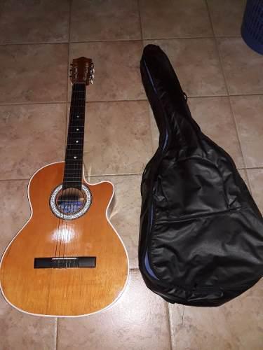 Guitarra acustica con forro acolchado