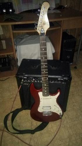 Guitarra electrica con amplificador phil pro