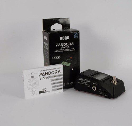 Pandora stomp korg multiefectos y afinador