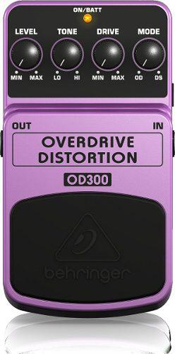 Pedal guitarra behringer overdrive / distortion od300 nuevo