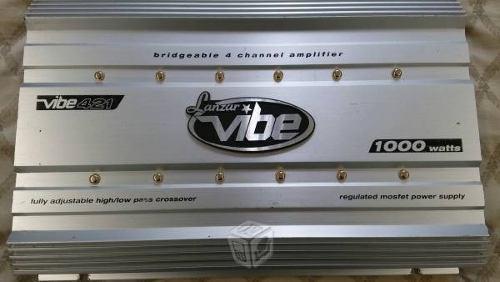Amplificador lanzar vibe 1000 vatios, 4 canales.