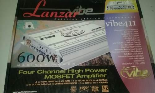 Amplificador lanzar vibe 4 canales nuevo