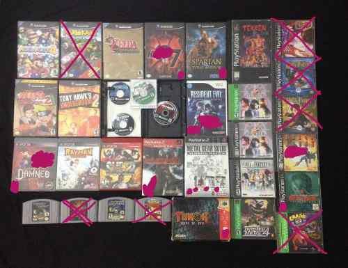 Juegos gamecube/wii/n64/ps1/ps2/ps3/ lea ojo lea por favor