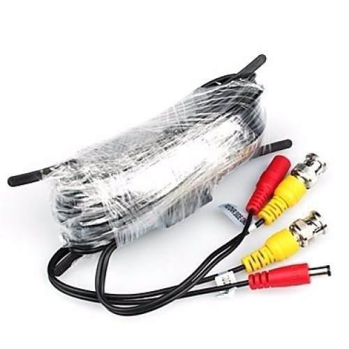 Cable camara de video corriente 18 mts bnc y plug