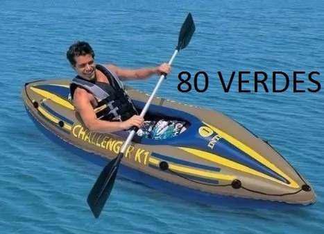 Kayak canoa inflable marca intex challenger k1 70ver ds