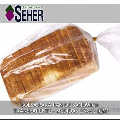 Bolsas pan de sandwich medida 25x62 (somos fabricantes)