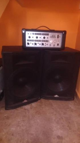 Equipo de sonido multi uso 1 consola amplificada + 2 cornet