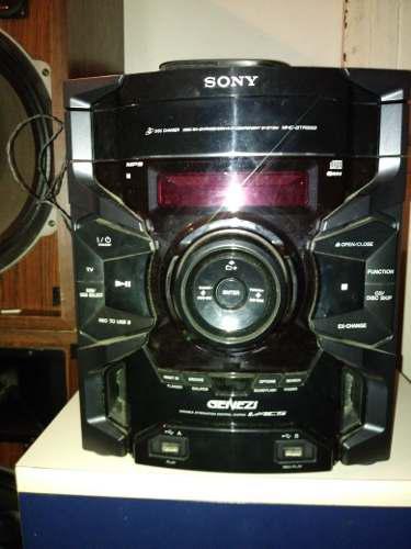 Equipo de sonido sony genezi modelo mhc-gtr333