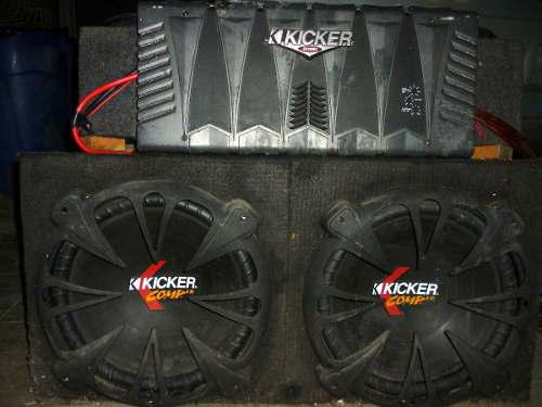 Kicker profesional combo, equipo sonido carro (vendo-cambio)