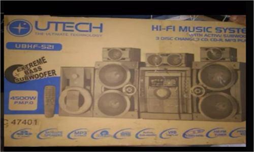 Radio equipo de sonido utech 4500w 120$ ó pesoscolombia