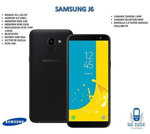 Telefono celular samsung galaxy j6 anodroid oem