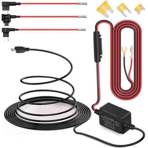 Cable convertidor 12v a 5vdc para dvr, gps, kit micro usb