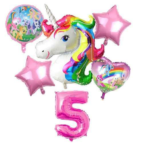 Globo metalizado inflable cumple fiesta unicornio cars