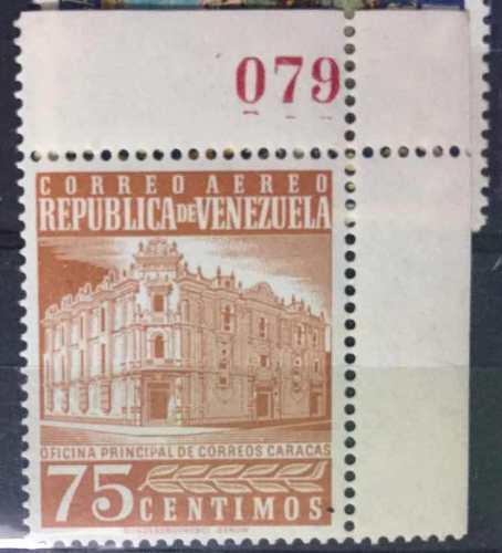 Estampilla correo aéreo venezuela hoja numerada 079
