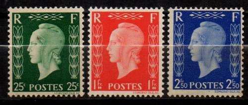 Lag estampillas francia 1945 nuevas serie completa