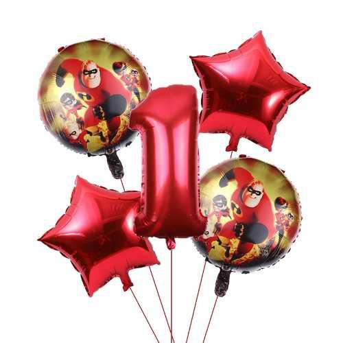 Globo metalizado inflable cumple fiesta increibles niño