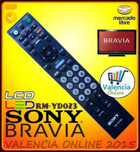 Control remoto tv sony bravia lcd led rm-yd023