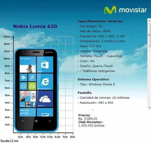 Nokia lumia 620 movistar