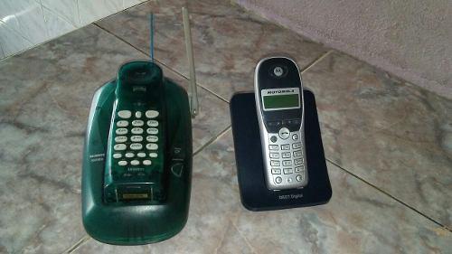 Telefonos inalambricos con sus cargadores sin baterias