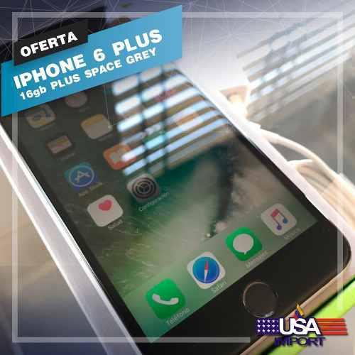 Iphone 6 plus(250) 16gb space gray liberado tienda virtual