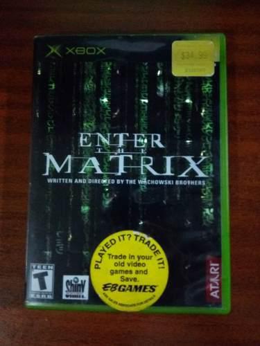 Juego enter the matrix para xbox original