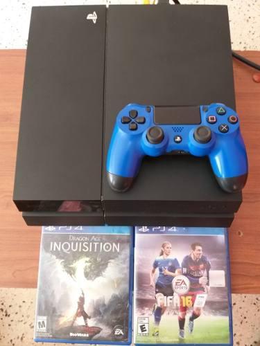 Playstation 4 500gb+2 juegos + 1 control (280verdes)