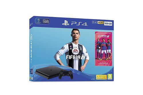 Ps4 playstation 4 slim 500gb nuevo + fifa 2019