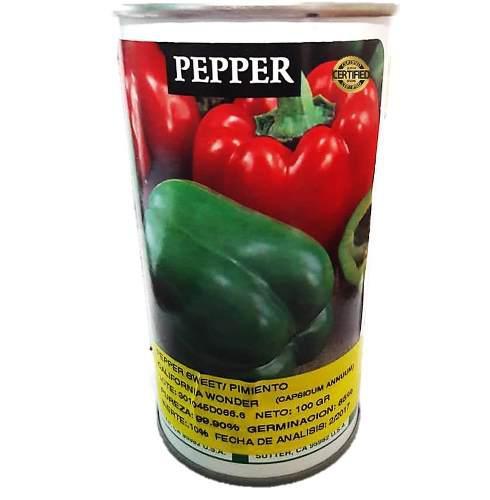 Semillas de pimenton california woder lata de 100 gramos