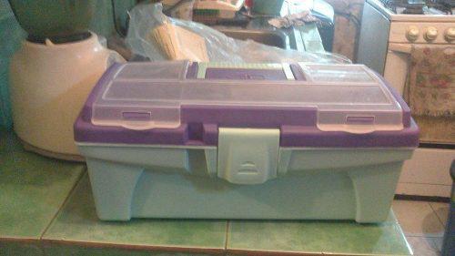 Caja herramientas plastica de 36x18x14cm alfa hogar