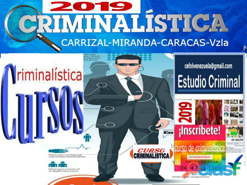 Curso especial de investigación penal y criminalística 2019, estudiantes de 4°, 5° año y bachilleres