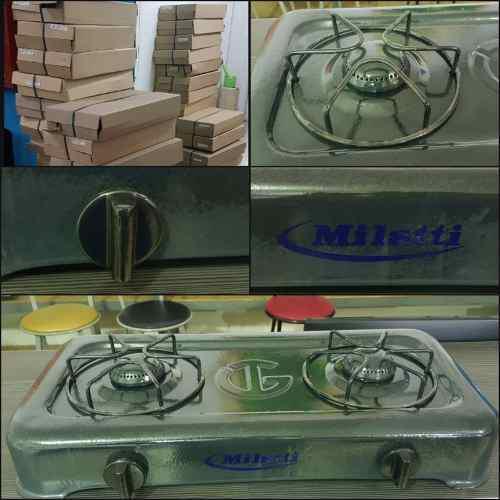 Cocina de mesa a gas dos hornillas milatti somos tienda