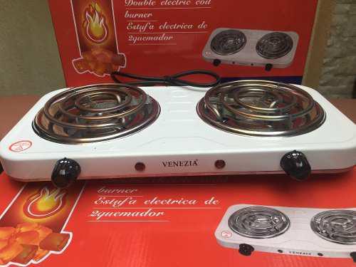 Cocina electrica de 2 hornillas. 2000 w. fotos reales......