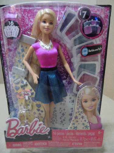 Muñeca barbie peinados brillantes original mattel