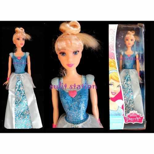 Muñeca tipo barbie disney princesa cenicienta nueva y otras
