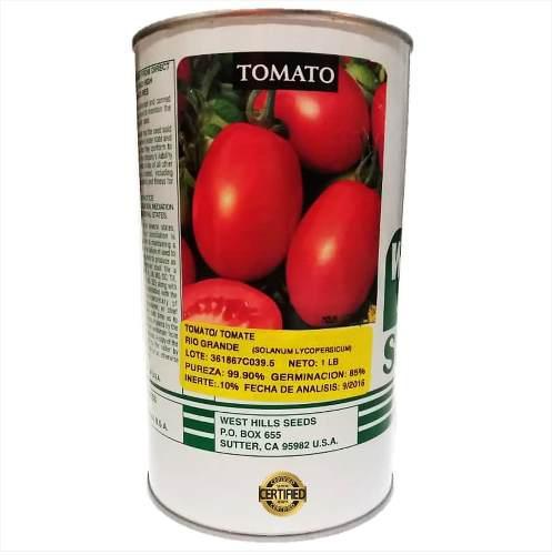 Semillas de tomate rio grande 452 gramos certificadas