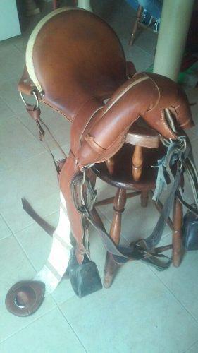 Silla de montar caballo de coleo