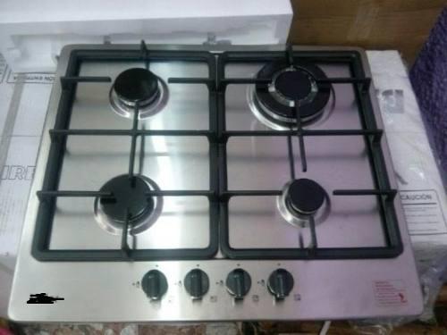 Tope cocina 4 hornillas acero inoxidable a gas a estrenar