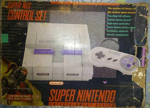 Consola super nintendo nes modelo sns-001 original