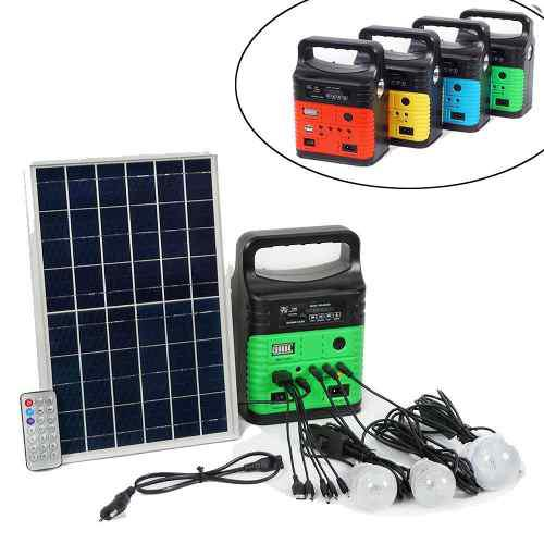 Cargador solar para telefonos, tablet, fm, mp3 luz led