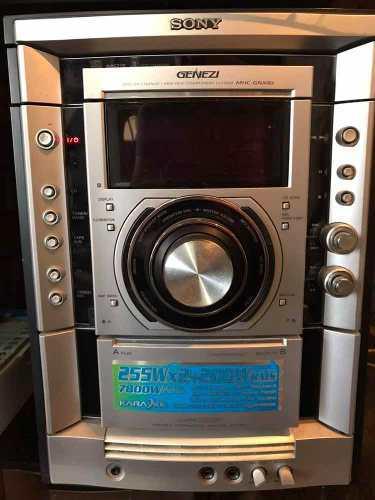 Equipo De Sonido Sony Genezi Mhc-gnx80 Como Nuevo!