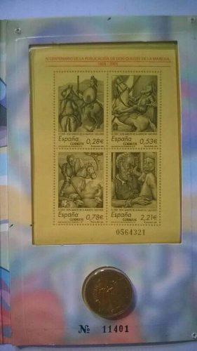 Moneda 400 aniversario del quijote