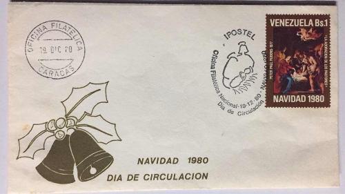 Sobre 1er día de circulación navidad 1980