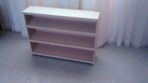 Estante exhibidor mobiliario candy bar mdf crudo 60x12x45
