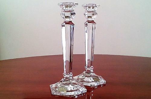 Candelabros de cristal de plomo. favor leer la descripción.