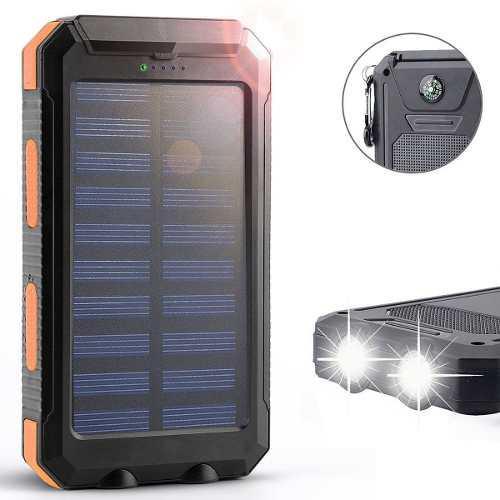 Cargador portatil power bank dual solar 12000mah new version