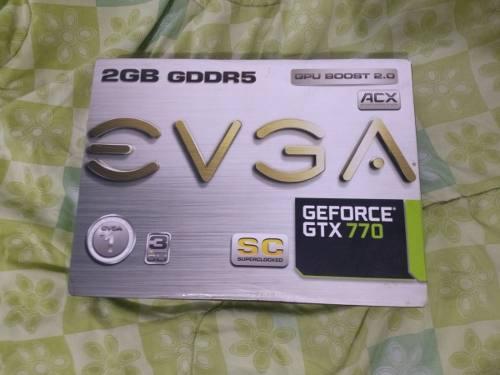 Tarjeta de video evga gtx 770 2gb como nueva