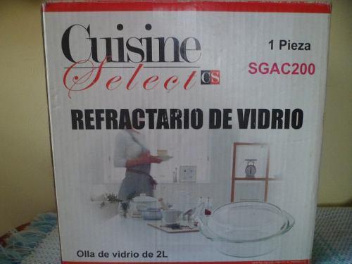 REFRACTARIO (OLLA DE VIDRIO CON TAPA) 2LTS segunda mano  Barquisimeto (Lara)