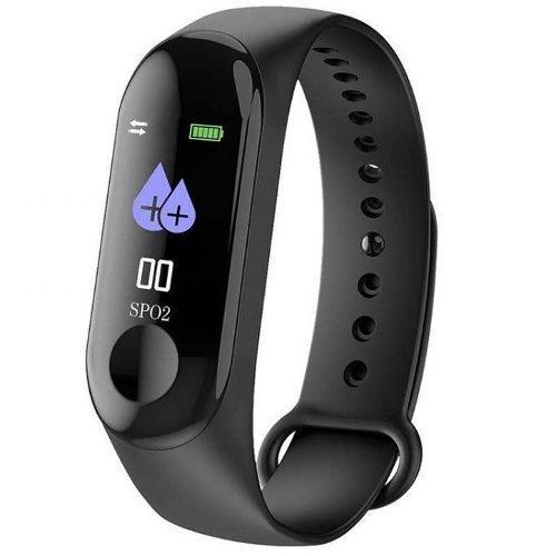 Reloj smartband fit m3 ritmo cardiaco calorias sport waterpr