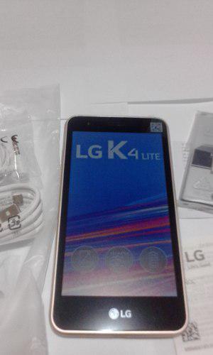 Celular lg k4 lite 5pulgadas dorado liberado en caja.