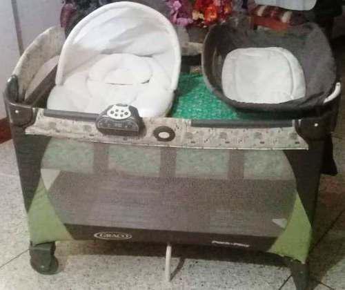 ff9540eff Corral, cambiador, porta bebé (asiento auto) y coche graco